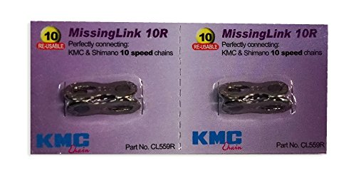 KMC 2 Sets Missing Link 10 Speed CL559R für KMC & Shimano Silber