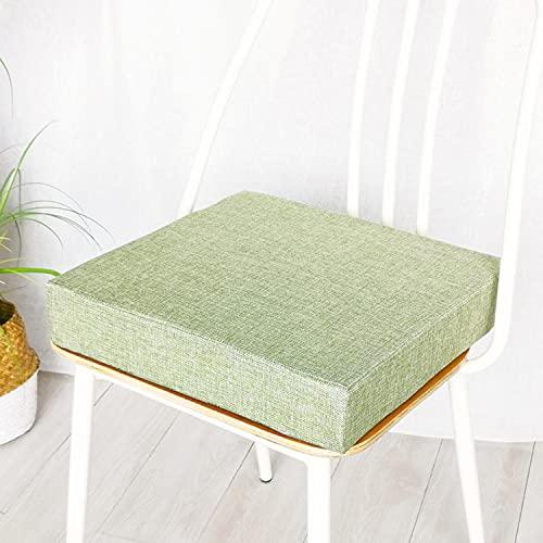 jHuanic Cojín de asiento para silla de jardín, 45 x 45 cm, 50 x 50 cm, almohadillas antideslizantes para asiento para patio interior y exterior (40 x 40 x 5 cm), color verde