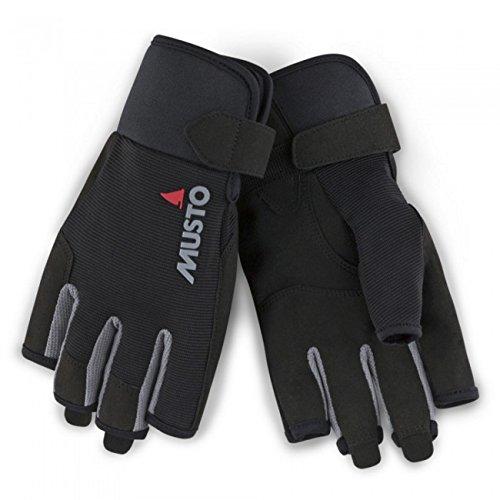 Musto 2018 Essential Segelhandschuh Sailing Short Finger Gloves Black AUGL003 Size - - Large