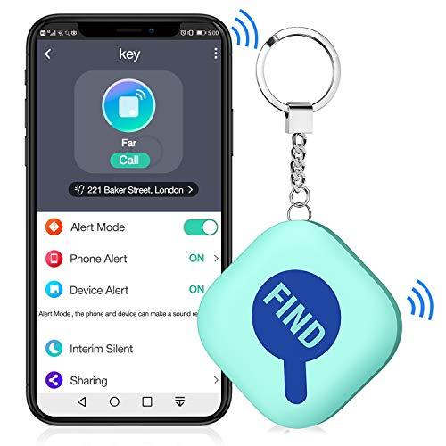 BEBONCOOL Schlüsselfinder, Bluetooth Key Finder Kompatibel mit iOS & Android App, Schlüssel GPS Anti-Lost Tracker, Smart One Touch Find Keyfinder mit Bidirektionalem Alarm/Silent Mode, Minzgrün