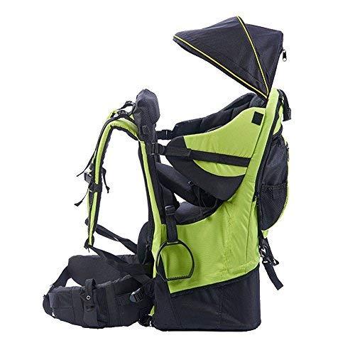 Mochila portabebés de montaña, con protector de lluvia y sol, verde