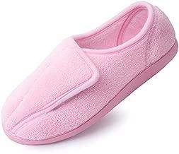 Git-up Women Memory Foam Diabetic Slippers Arthritis Edema Adjustable comfortable House Shoes Closed Toe 10.