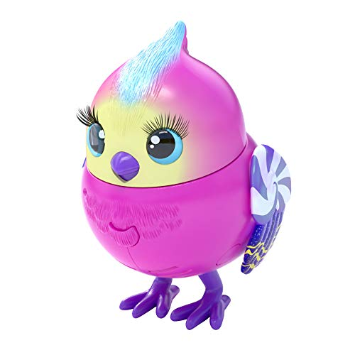 Little Live Pets Lil Candi Sweet 26030 - Pack Individual de pájaro con Cabeza móvil (más de 20 Sonidos de Aves, reacciona al Tocar)