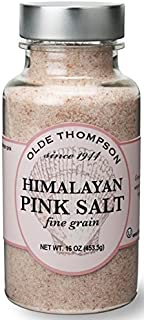 Olde Thompson Himalayan Pink Fine Salt Shaker Refill, 16 oz, Clear