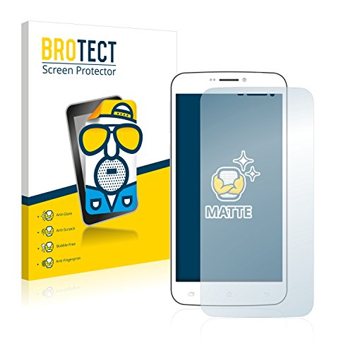 BROTECT 2X Entspiegelungs-Schutzfolie kompatibel mit BQ Aquaris E4 Bildschirmschutz-Folie Matt, Anti-Reflex, Anti-Fingerprint