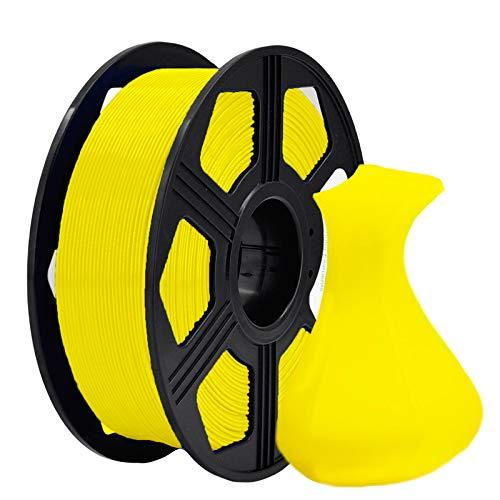 YOYI 3D Printer Filament, PLA PFilament 1.75mm 1KG (2.2 lbs) Spool, Dimensional Accuracy +/- 0.03 mm (Yellow)