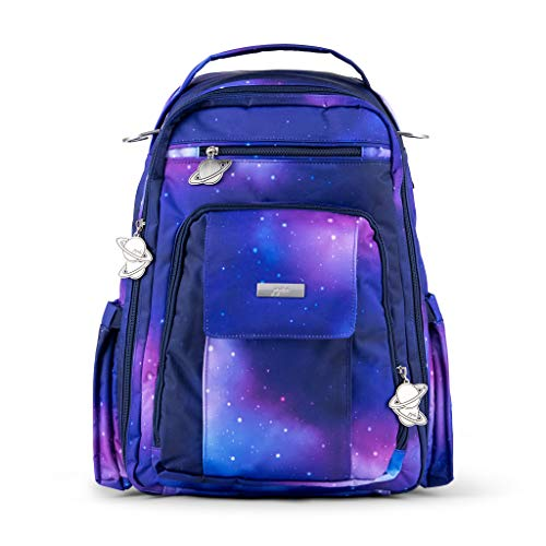 JuJuBe Galaxy Be Right Back Backpack | Travel-Friendly, Outer Space Compact Stylish Backpack Purse, Adjustable Straps, for Kids and Adults | Memory Foam Changing Pad Included