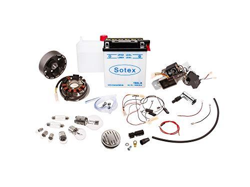 VAPE Set: Umrüstsatz VAPE auf 12V (mit Batterie, Hupe und Leuchtmittel) - Simson KR51/1 Schwalbe, KR51/2 Schwalbe