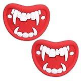 PRETYZOOM 2 Piezas de Chupete de Bebé con Forma de Vampiro Chupete de Halloween Divertido Fiesta de Halloween Que Favorece Los Regalos