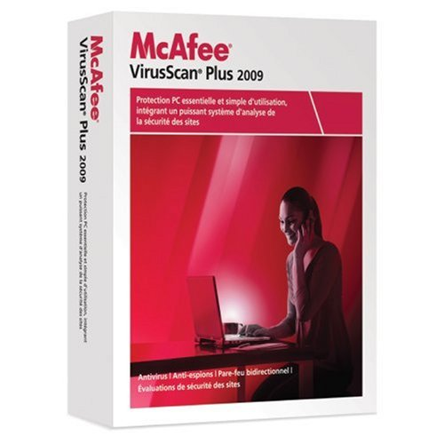 Mcafee virusscan plus 2009 - 1 poste