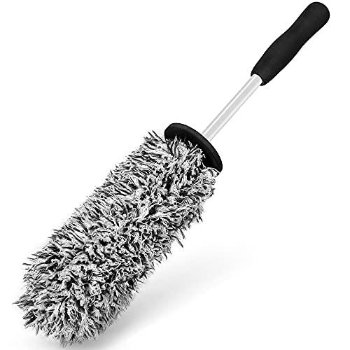 EASY EAGLE Cepillo Microfibra para Limpiar Llantas, Cepillo Ruedas para Llantas en Acero y Aluminio, 1 Pedazo
