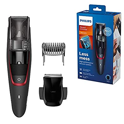 Philips Series 7000 Beard and Stubble Less Mess Vacuum Trimmer - GQ Grooming Awards 2019, Highly Commended - BT7500/13 by Philips