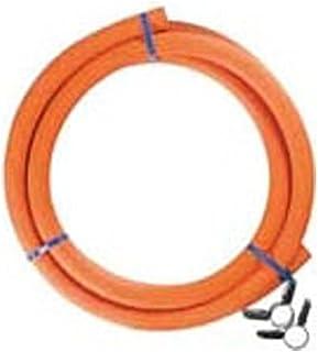 ダンロップ LPガス用ゴム管(内径9.5mm) ホースバンド付き 2m 6004