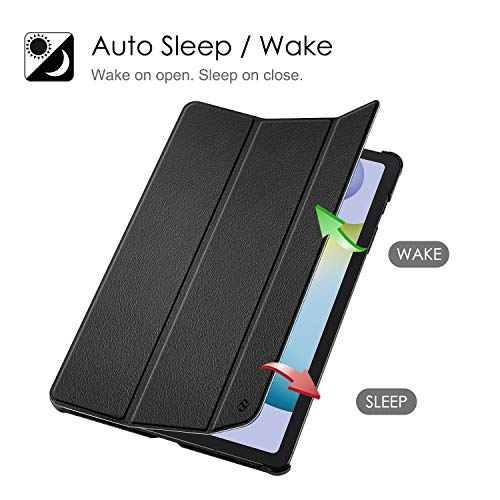 Fintie Hülle für Samsung Galaxy Tab S6 Lite - Ultra Schlank Kunstleder Schutzhülle mit Stifthalter, Auto Schlaf/Wach Funktion für Samsung Tab S6 Lite 10.4 SM-P610/ P615 2020, Schwarz