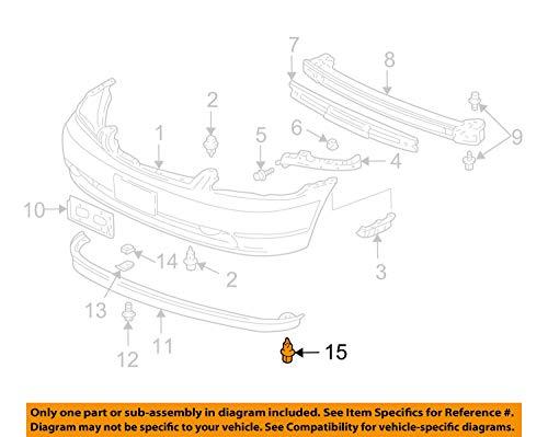 OEM Honda 91503-SZ3-003 - Clip A, parachoques