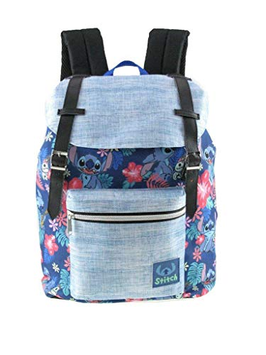 Limited Disney Lilo and Stitch Allover Pattern Preppy Vintage Style 16' School Backpack
