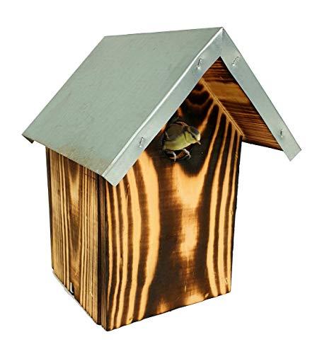 Groß Nistkasten Vogelhaus aus Holz 19x19,5x26cm Nisthaus mit Blechdach Leicht zu reinigen Nisthaus Zum Aufhängen oder Anschrauben BL71 Opal