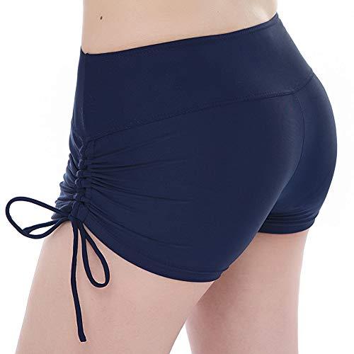 TFENG Frauen Sport Badeshorts mit verstellbarem Tunnelzug UV Schutz Bikini Bademode Tankini Bottoms