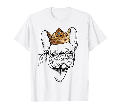 French Bulldog Wearing Crown T-Shirt