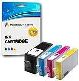 Printing Pleasure 4 Compatibles HP 364XL Cartuchos de Tinta Reemplazo para HP Photosmart 5510 5514 5515 5520 6510 6520 B110a Plus B209a B210a Deskjet 3070A 3520 Officejet 4610 4620, Alta Capacidad