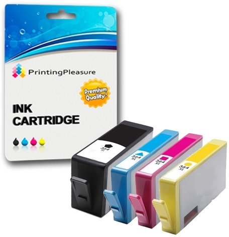 Printing Pleasure 4 Compatibles HP 364XL Cartuchos de Tinta Reemplazo para HP Photosmart 5510 5514 5515 5520 6510 6520 B110a Plus B209a B210a Deskjet 3070A 3520 Officejet 4610 4620, Alta Capacidad