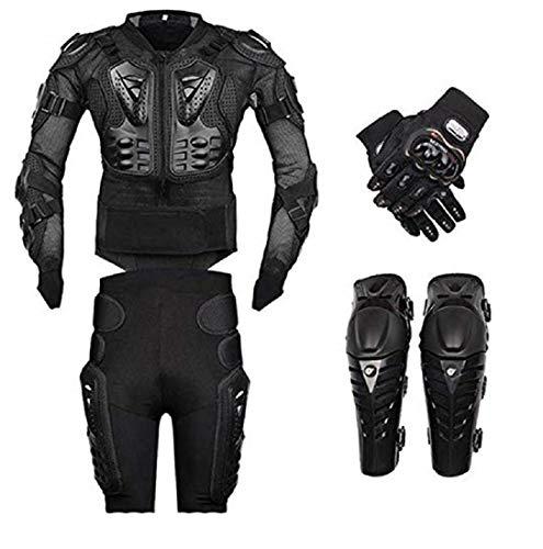 FULUOYIN Motorrad Protektorenjacke Anzug Panzer Protektorenhemd+ Hose+ kniechüzer+Handschuhe für Radfahren Reiten Motorrad Fahren Schilaufeh S-5XL
