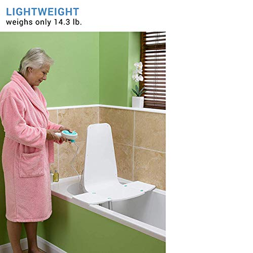 """Graham-Field Lumex Splash Bath Lift with Ultra-Compact Design and Remote Control, 5033A-1 White, 26.8"""" 22.8"""" 20.1"""""""