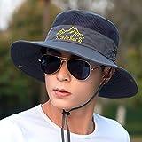 wopiaol Sombrero de Pesca Sombrero para el Sol Sombrero para el Sol de ala Larga para Hombres Cubierta Exterior Cara Verano Ciclismo al Aire Libre Sombrero para el Sol