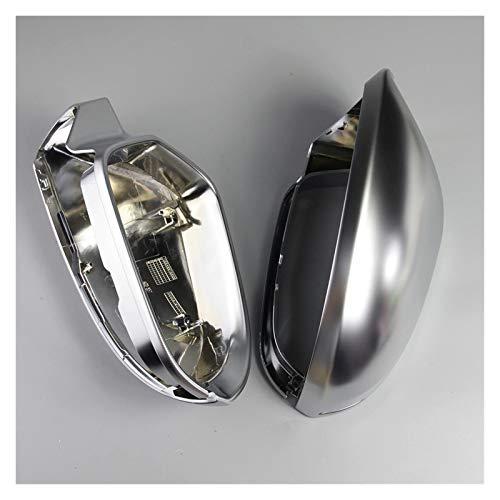 Copertura specchietto retrovisore 1 paio Auto retrovisore Specchio Shell Cover Protection Cap Matte Chrome Compatibile con Audi A6 C7 S6 2012-2018 Ala Coperchio specchio Accessori per auto Specchio pe