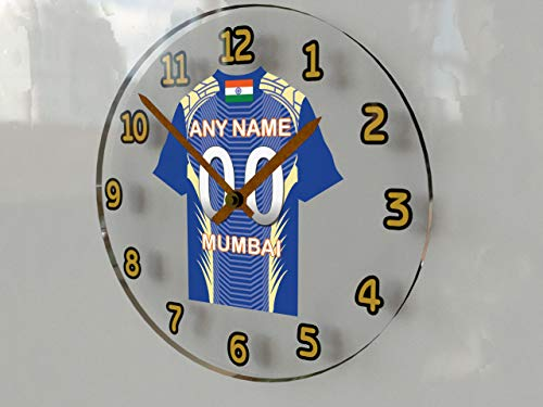 MyShirt123 IPL Indien Cricket–Indischen Premier League Cricket Jersey Wanduhren–Jeder Name, beliebige, jedes Team, kostenlose Personalisierung. Mumbai Indians