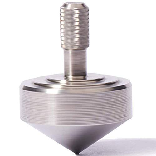 Juguete Gyro de dedo 1 unids mini Metal Gyro Gran Precisión Plata Spinning Top Película Caliente Tótem Impresión Spinning Top Automático Flip Gyro