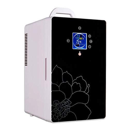 Frigo Portatile, Congelatore per frigorifero portatile da 16 litri, 12 V / 220V (Color : Black)