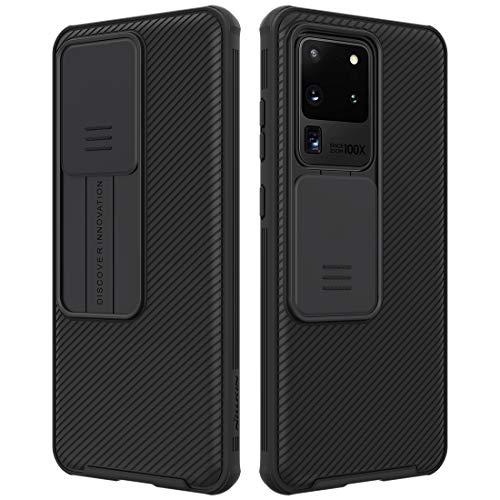 NILLKIN Funda Samsung Galaxy S20 Ultra/S20 Ultra 5G, [Protección de la cámara] Estuche híbrido Parachoques Premium no voluminoso Delgado Funda rígida para PC para Samsung Galaxy S20 Ultra/S20 Ultra 5G