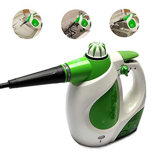 ZXL Dampfreiniger, Handdruckdampfer, 220 Milliliter Wassertank Kapazität 9-Teiliges Zubehörset, Mehrzweck-Mehrflächen-All-Natural-Chemikalie Für Den Heimgebrauch