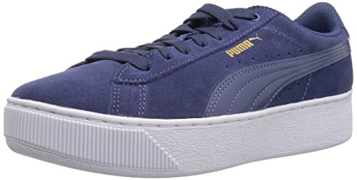 PUMA Zapatillas de plataforma Vikky para mujer, azul (Índigo azul-índigo), 39.5 EU