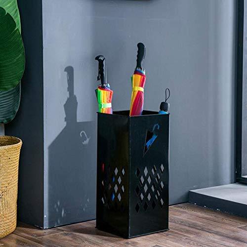 ZXL creatieve opslag huis plank open haard paraplu opslag emmer Europese smeedijzer eenvoudige vloer paraplu standaard multifunctionele zwarte paraplu standaard zwart 50 * 23 * 23cm