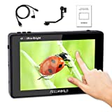 FEELWORLD LUT7 7 inch Field Monitor Ultra Bright 2200nit Touch Screen 3D LUT 4K HDMI Input/Output Full HD 1920x1200 IPS, Waveform Vector Diagram Histogram Ultra Versatile Combination