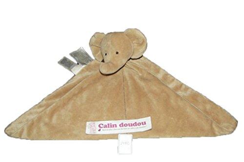 x- Autres - Doudou Carters toys elephant plat marron brown neuf - 2782