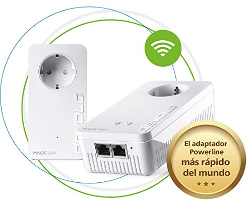 Devolo Magic 2 WiFi Next - Starter Kit para la Wi-Fi Mesh (2400 Mbps, 3 Conexiones LAN Gigabit, AC Wi-Fi, G.hn)