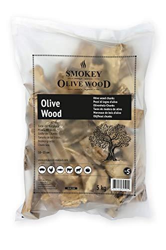 Smokey Olive Wood 5Kg Olivenholz für BBQ und Smoker, grobe Chunks 5-10cm