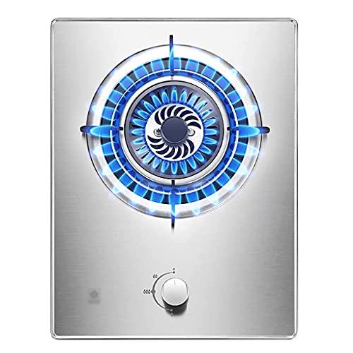 YXYY Estufa de Gas de Cocina de casa empotrada de 4.2 KW - Estufa de Gas de Acero Inoxidable de 1 quemadores con protección contra fallas de Llama [Clase energética A] (Color: LPG)