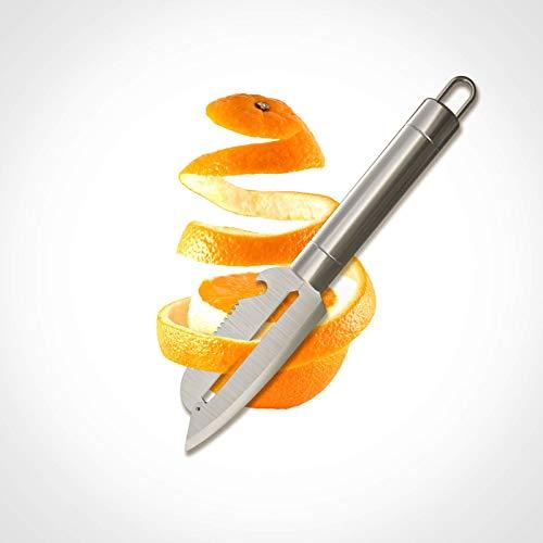 """Pelapatate universale per frutta e verdura, grande (lunghezza: 9.4"""") Il pelapatate è dotato di un rimuovi germogli integrato che ritaglia le imperfezioni senza rovinare l'alimento."""