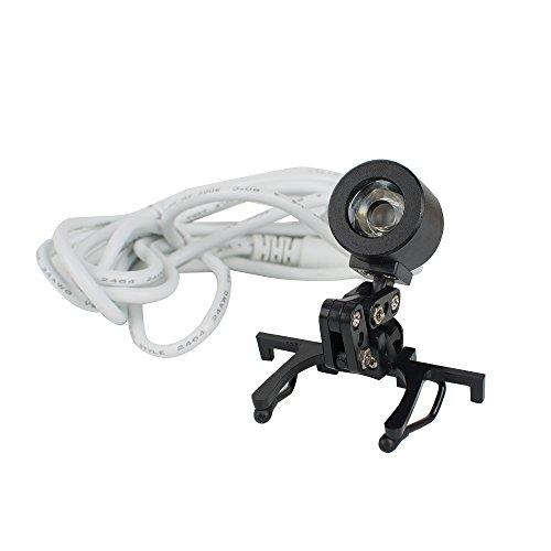 Denshine Portable Black Dental Headlight, Head Light, Headlamp for Dental Surgical Medical Binocular Loupe with Premium Bag