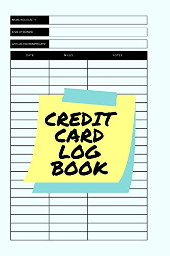 Credit Card Log Book: Rewards tracker to organize