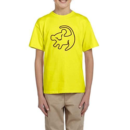 Rey Simba León - Camiseta Manga Corta niño (Amarillo, 5 años)