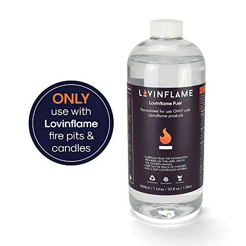 Lovinflame Fuel for Fireplaces | Non-Toxic, Non-Flammable, Water-Soluble, Safe for Transportation & Storage (1 Liter)