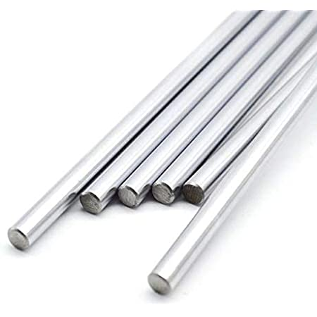 INVENTO 6pcs EN31 Rustproof Steel Smooth Rod 8mm OD 500mm (0.5 mtr) Long for CNC Robotics Machines DIY Projects