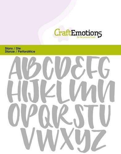 Stanze von Craftemotions (Alphabet Handlettering Großbuchstaben Card)