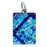 GlassOfVenice Colgante rectangular con reflexión veneciana – azul aguamarina