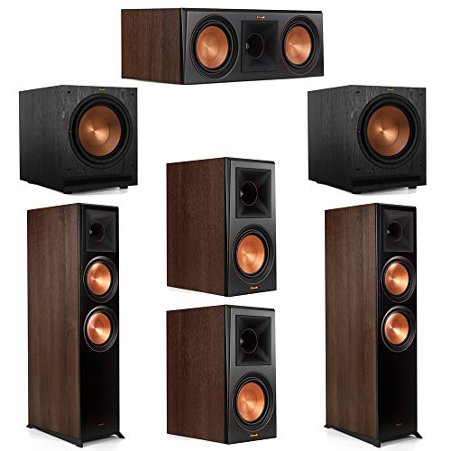 Best Bargain Klipsch 5.2 Walnut System 2 RP-8000F Floorstanding Speakers, 1 Klipsch RP-600C Center S...
